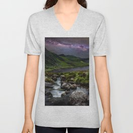 Tryfan by Starlight Unisex V-Neck