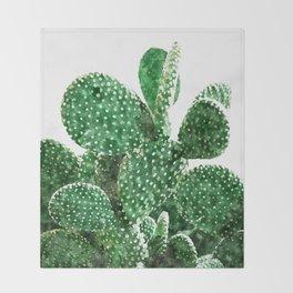 Velvet Cactus Throw Blanket