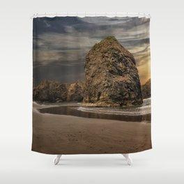 Sea Stacks at Sundown Shower Curtain