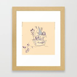 S.S. Trash Boat Framed Art Print