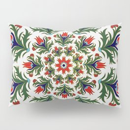Turkish tulip - Ottoman tile 1 Pillow Sham