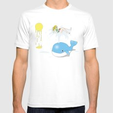 Whale of a time White Mens Fitted Tee MEDIUM