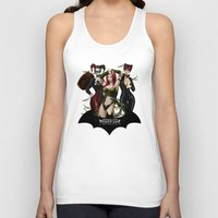 selena Tank Tops featuring the Gotham Sirens by Esteban Barrientos