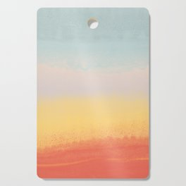 Ceramic Sunset // Multi Color Speckled Drip Summer Beach California Surf Vibes Wall Hanging Design Cutting Board