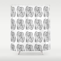 shoes Shower Curtains featuring shoes by Jim Lockey