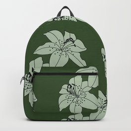 Lily The Tiger - Green Backpack