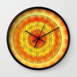Mandala Blume des Lebens Wall Clock