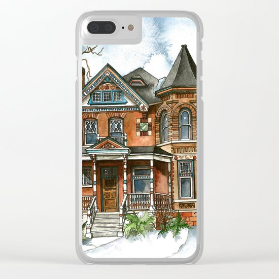 Victorian Winter Clear iPhone Case
