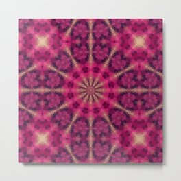 Kaleidoscope . Raspberry magic. Metal Print