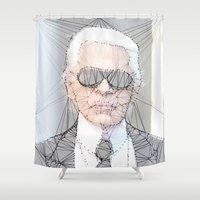 karl Shower Curtains featuring ICONS: Karl Lagerfeld by LeeandPeoples