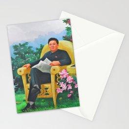 Kim Jong Il North Korean Propaganda Stationery Cards