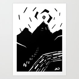 Final Gathering Of The Duj'r Mountain Cult Art Print