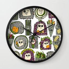 veggie sushi white Wall Clock