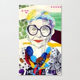 Iris Apfel Fanart Canvas Print