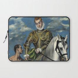 "El Greco (Domenikos Theotokopoulos) ""Saint Martin and the Beggar"" Laptop Sleeve"
