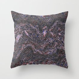 MELTED MARBLE LAVANDER Throw Pillow