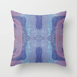 Streaks & Curves Abstract Paint Strokes Throw Pillow