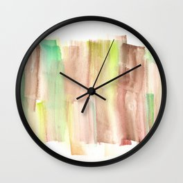 [161228] 22. Abstract Watercolour Color Study |Watercolor Brush Stroke Wall Clock