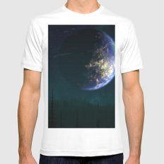 Out of this world #forest MEDIUM Mens Fitted Tee White