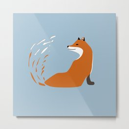 Fox Graphic Design Metal Print