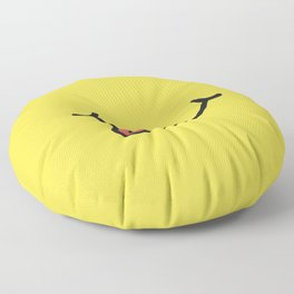 Smile art yellow Floor Pillow