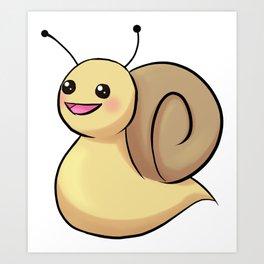 Chibi Snail Art Print