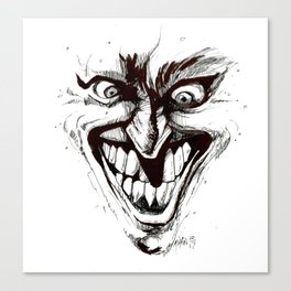 """Turn that Smile Upsidedown"" Canvas Print"