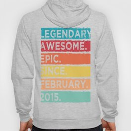 February 2015 Limited Edition 5 Years Of Bring Awesome Legendary T-shirt Design Birthday Garment Hoody