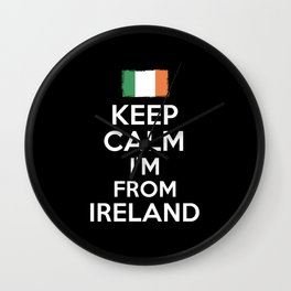 Keep Calm Irish Wall Clock