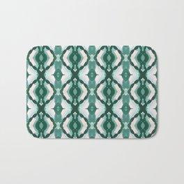 Watercolor Green Tile 1 Bath Mat