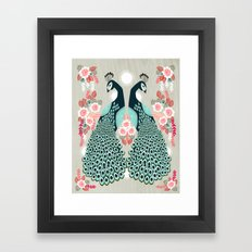 Peacocks by Andrea Lauren  Framed Art Print