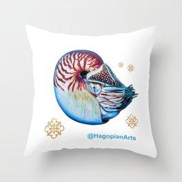 Eco Mural Project 7: Nautili Throw Pillow