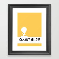 No18 My Minimal Color Code poster tweety Framed Art Print