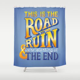 FOB - Alone Together Typography Shower Curtain