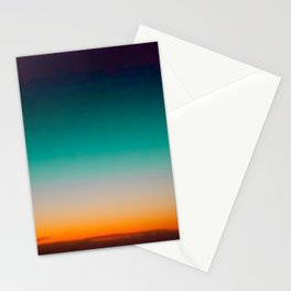 Blue and Yellow Magic Dawn in the Sky Stationery Cards
