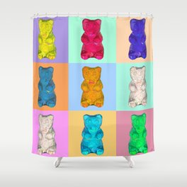 gummybears pop Shower Curtain