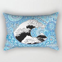 Kanagawa's wave Rectangular Pillow