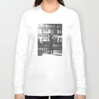 johnny cash Long Sleeve T-shirts featuring Johnny Cash by Earl of Grey