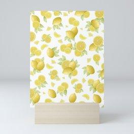Summer Lemon Twist #1 #tropical #fruit #decor #art #society6 Mini Art Print
