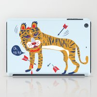 tiger iPad Cases featuring tiger by echo3005