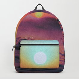 Colorful Sunset Over Purple Ocean Backpack
