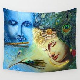 Radha Krishna Wall Tapestry