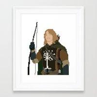 gondor Framed Art Prints featuring Fara-Bit Captain of Gondor by SamuelJay