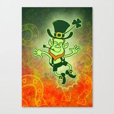 Leprechaun Clapping Feet Canvas Print