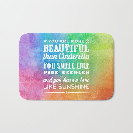 Sunshine Face Bath Mat
