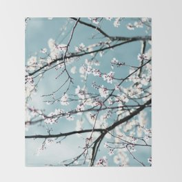 spring blossoms Throw Blanket