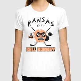 Kansas City Ball Hockey Thrashed Skull [Orange] T-shirt