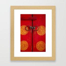 Temple Door Framed Art Print
