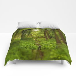 Green Spring Trees Comforters