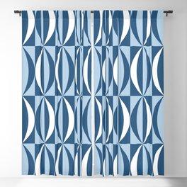 Vintage blue segments Blackout Curtain